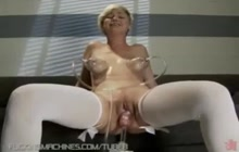 Weird masturbation and a huge orgasm