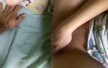 Boyfriend watching hot chick fingering her pussy