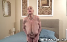 Old grandma gets creampied after hardcore
